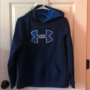 Boys Under Armour navy blue YXL hoodie.